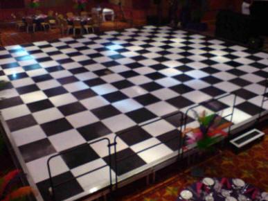 raised dance floor