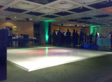 white dance floor