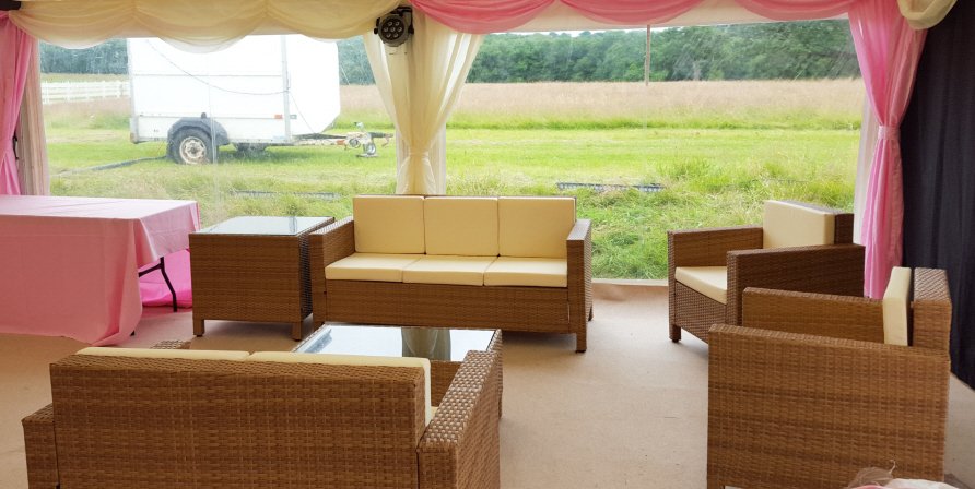 Rattan Furniture Set - Perfect for Bar or Chill Out Area
