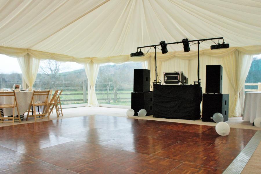 wooden parquet dance floor