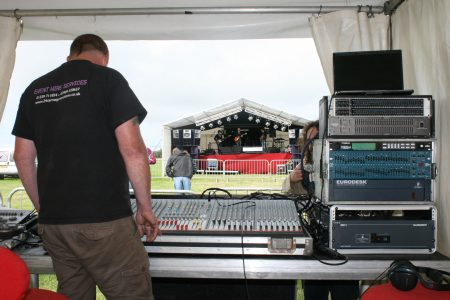 sound engineer outdoor stage