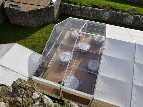 clear wedding marquee
