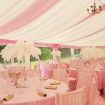 Pink roof overlays & linen