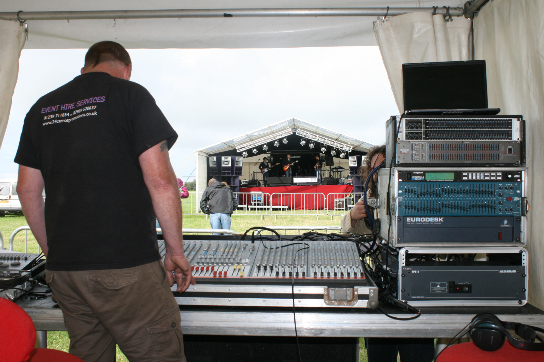 Outdoor stage at Cardigan Festival